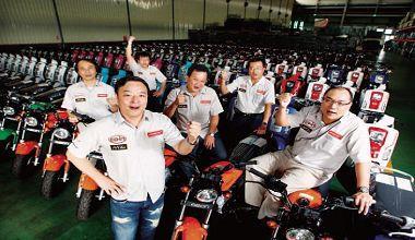 ▲在台灣機車內銷市占不到一%的宏佳騰推出自有品牌,以產品與通路創新,挑戰九六%市占的光陽、山葉和三陽。