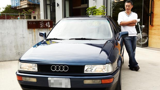 倪文堯與Audi 80 Coupe。
