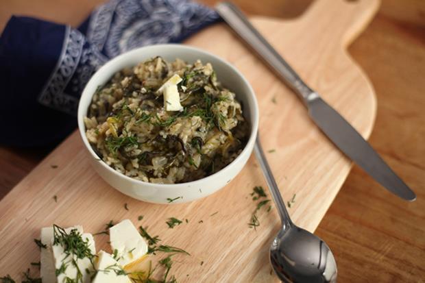 週末輕鬆煮》希臘蒔蘿菠菜飯(食譜)