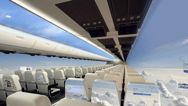 搭飛機喜歡坐靠窗?「透明飛機」讓你未來坐任何位置都能欣賞機外全景!