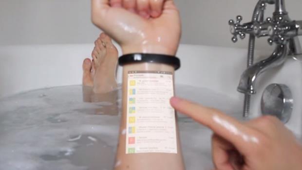比智慧手錶還厲害!這款募資中的手環,用投影技術把你的手臂直接變手機