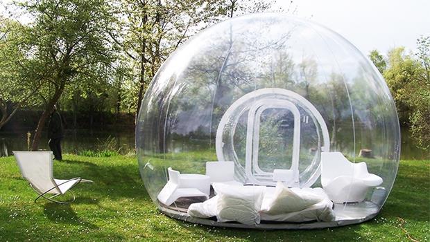 露營族準備尖叫吧!台灣也有全透明水晶球帳篷,可以躺在泡泡裡看星星