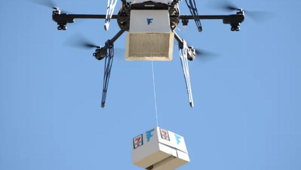 免出門就能買到小7各種商品!美國7-11推出用無人機送貨服務