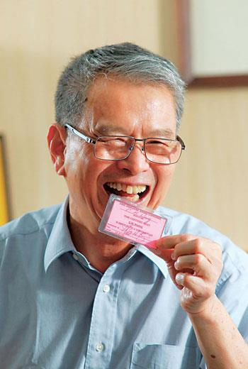 王秋雄50歲生日時,奈特送他一張證件(圖),可以進出Nike 總部跟員工商店,是他引以為傲的蒐藏。