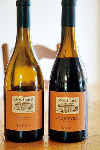 Vaqueras,但95%為紅酒,大多以Grenache為基底混調Syrah和Mourvèdre等品種釀成濃厚多酒精的紅酒,為典型的南方紅酒風格。