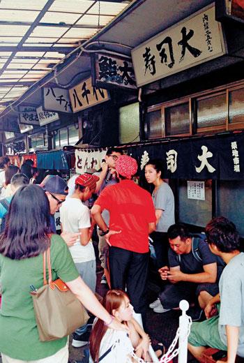 可以說築地市場是與所有東京人腸胃最有關係的地方!