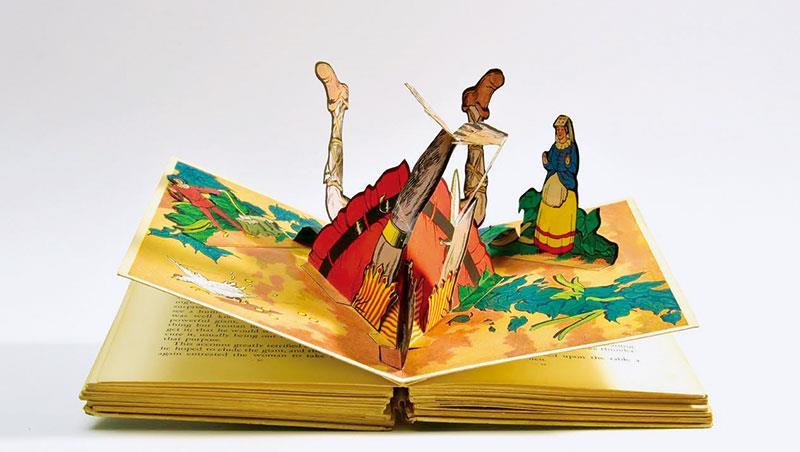 《傑克與巨人童話故事集》書中插有四個立體紙藝。