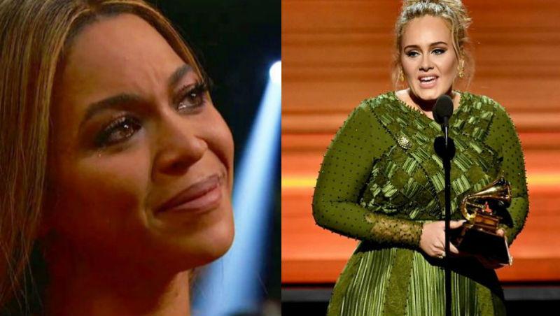 愛黛兒奪葛萊美5獎》向碧昂絲致敬:「所有藝人都崇拜妳,妳是我們的明燈!」