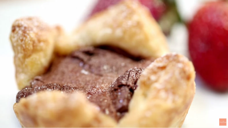 自己做更有誠意》成功率100%!只要「酥皮+巧克力」,10分鐘做出情人節甜點「爆漿松露酥塔」