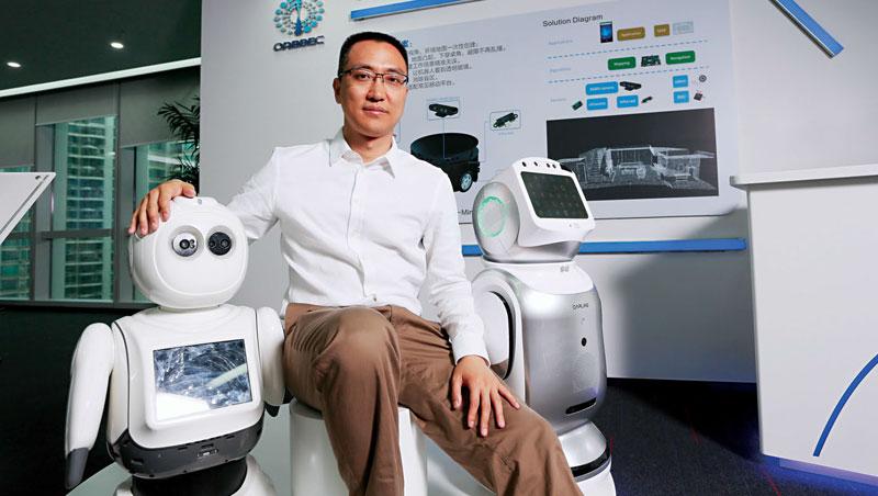 奧比中光創辦人黃源浩擁有北大學歷,待過美國、新加坡,他研發的3D 感測器技術不輸國際大廠,成為深圳新一批海歸派代表。