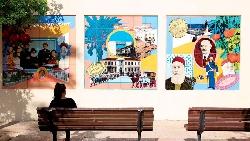 以色列猶太小區 藝文漫步