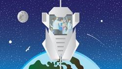 一步登天?劍橋、哥大研究生精算「月亮電梯」造價,只比SpaceX火箭貴一倍