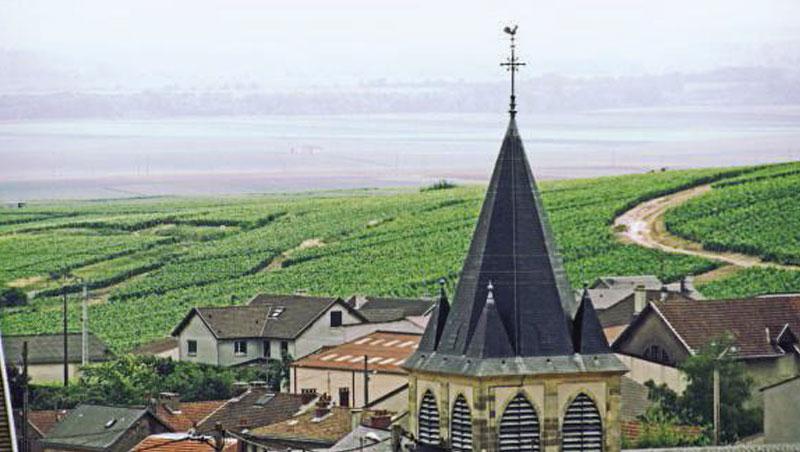 特雷佩村位在朝東坡,有許多白堊岩,和隔鄰的維萊爾馬爾默里村同是漢斯山區少數以夏多內聞名的酒村。