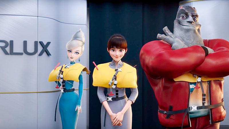 夢想動畫為星宇航空操刀飛安影片,從人物設定、毛髮、布料到燈光都講究,耗時1年。