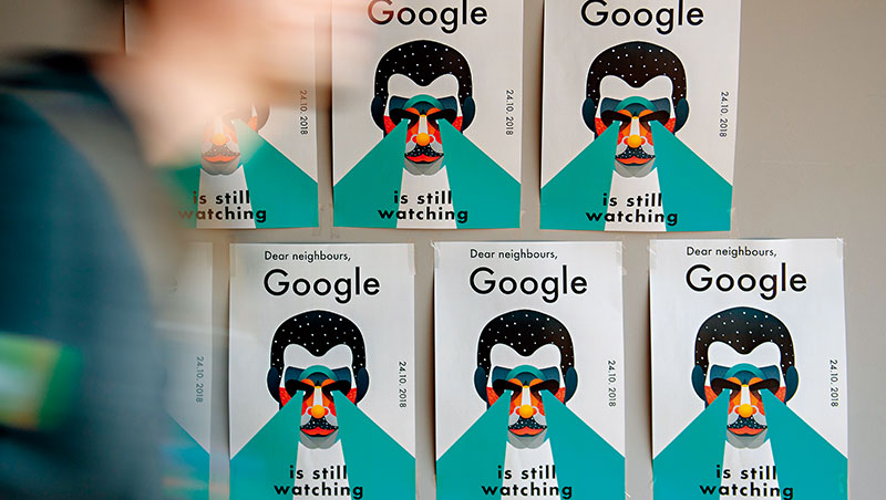 隱私權爭議,近來成了Google遭質疑的火線話題,也成為員工抗議的理由。