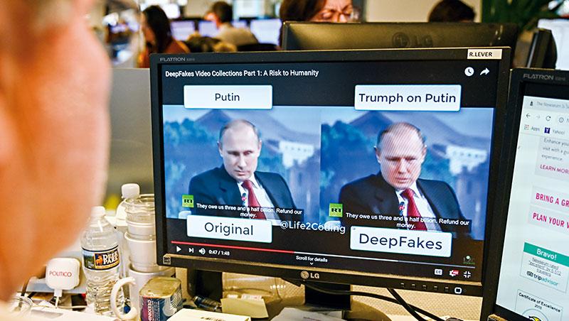 「深度偽造」效果已相當擬真,就有網友用該技術,將俄羅斯總統普欽說話的片段,換成美國總統川普的臉。
