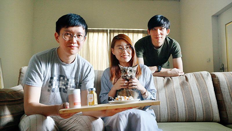 好味小姐創辦人:陳璻安(中)、黃奕傑(左)、尤葦帆(右)
