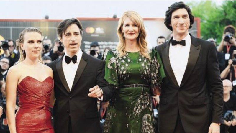 《婚姻故事》雖然獲得金球獎多項提名,但最終只由蘿拉.鄧恩(右2)拿 到最佳女配角。