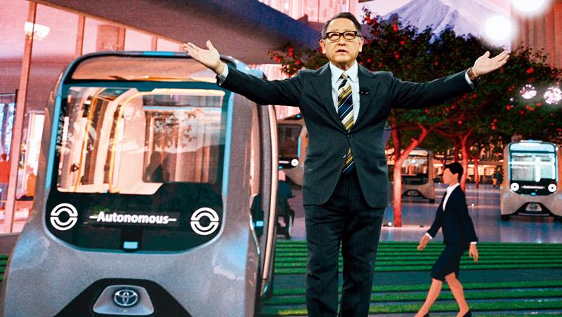 面對百年一次的移動革命,豐田章男(前)將打造實驗性智慧城市,邁出企業轉型的一步,而他首先做的是消除員工無感。