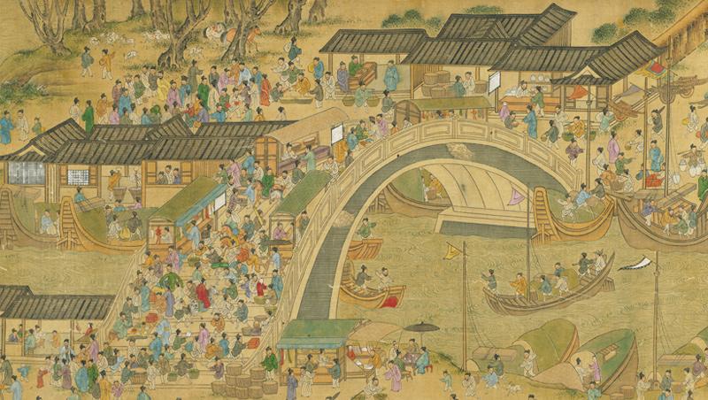 流傳千年的《清明上河圖》摹本甚多,故宮就保有明清兩代各種版本,也曾被後製為動畫互動版展出。