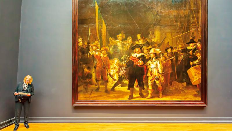 林布蘭在1642年完成的《夜巡》,是現今博物館最知名的收藏,也是17世紀巴洛克藝術的代表作。