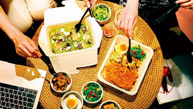 宅經濟當道,享受美食無須上館子,豐盛的外帶餐盒,成了新選擇。
