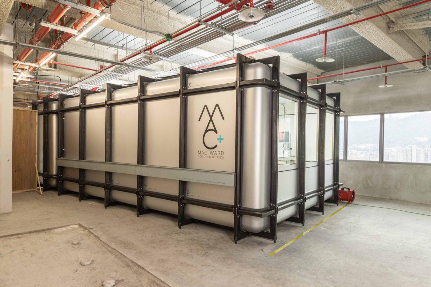 MAC Ward 以「回收鋁」為主要建材,不僅利用它質量較輕的特性,也考量到鋁材質表面易做多種處理(如光觸媒)。