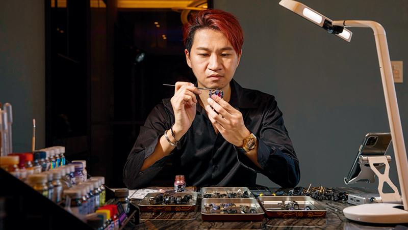 手作是魏智偉現在最愛的休閒活動,能讓他的壓力獲得釋放。