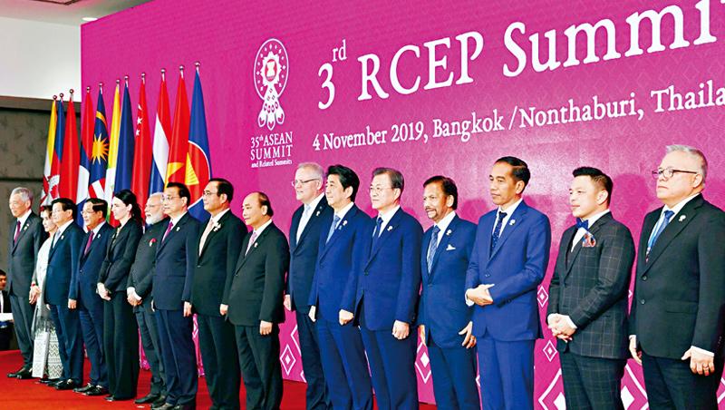 RCEP涵蓋全球3成GDP與人口,日、韓、東協元首去年底聚首討論,《經濟學人》稱「中國改寫全球化規則之舉」,台灣卻被排除在外。