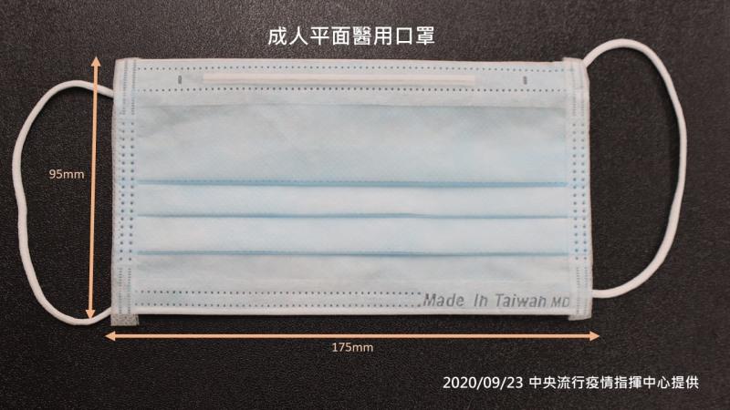 雙鋼印口罩範本。