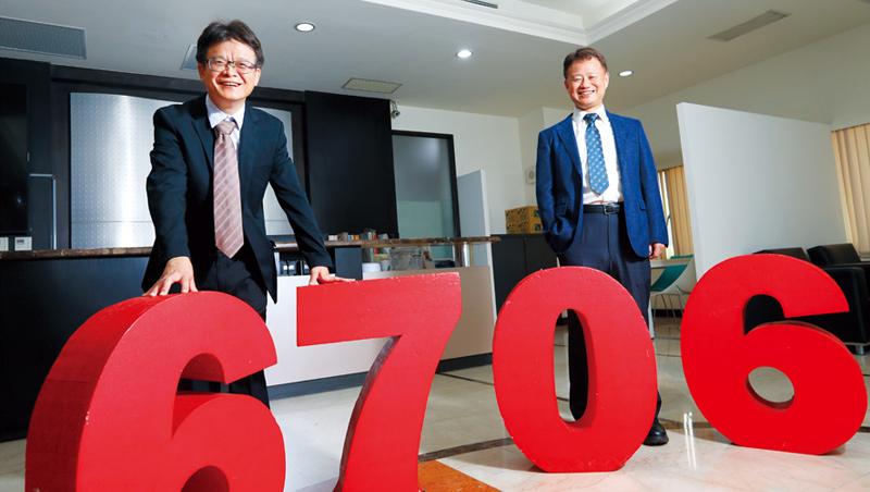 惠特董事長:徐秋田(左)、技術長:賴允晉(右)