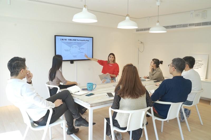 聚好品牌顧問團隊以同理心地圖討論專案