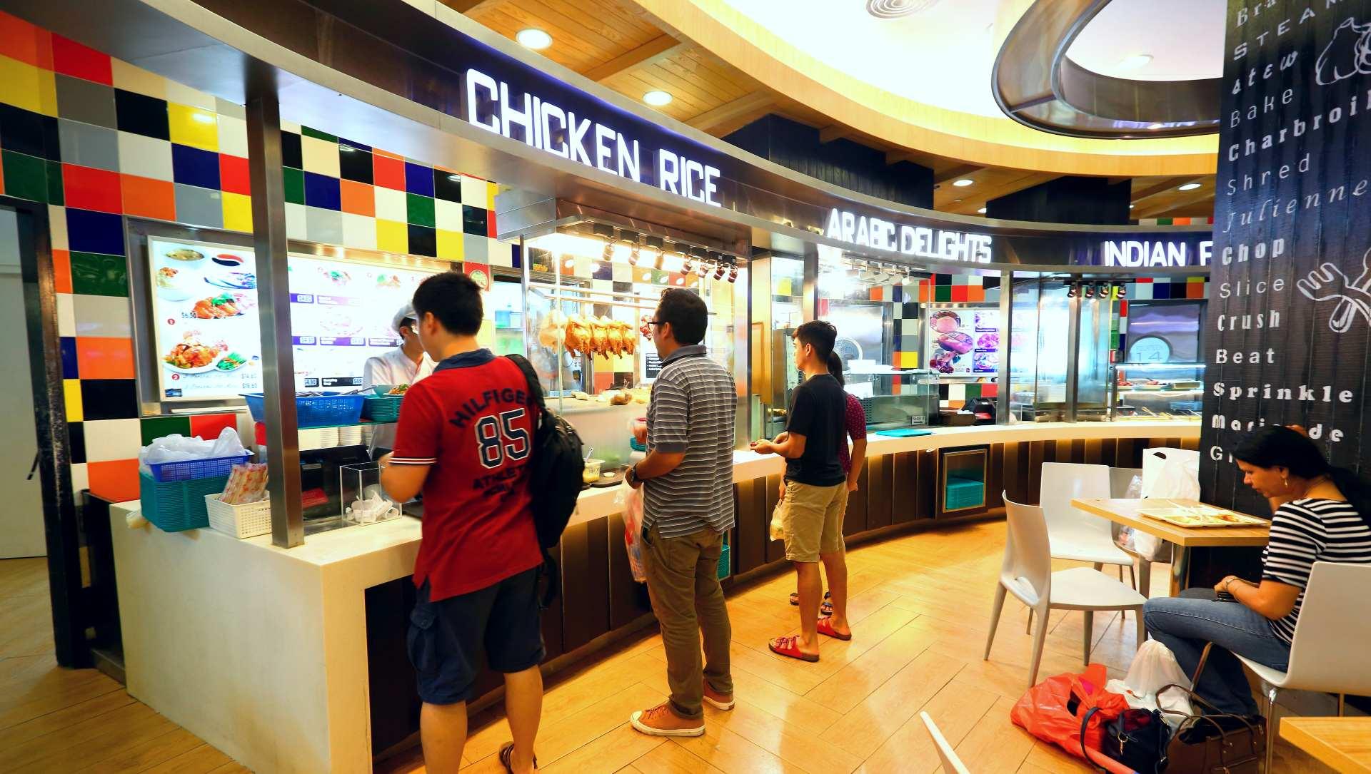 新加坡的冷氣食閣,類似台灣美食街。