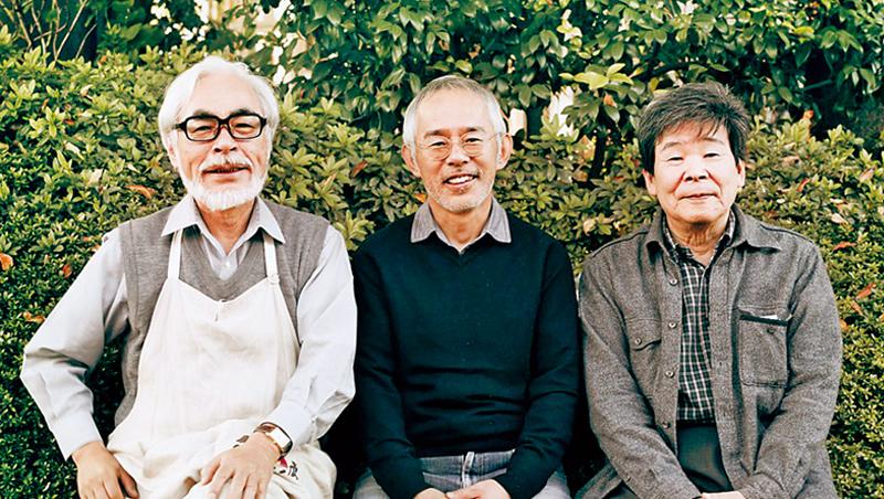 吉卜力記錄著宮崎駿(左起)、鈴木敏夫、高畑勳3人不斷挑戰的歷史。