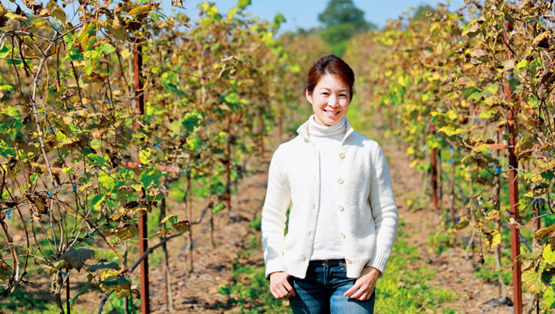 楊仁亞相信這座南投埔里的葡萄園,百年後會成為台灣葡萄酒莊的示範點。