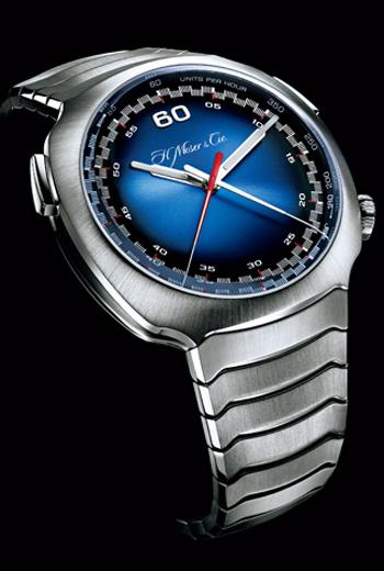 疾速者計時錶的流暢外型,與30年代快速火車空氣力學設計相符合。