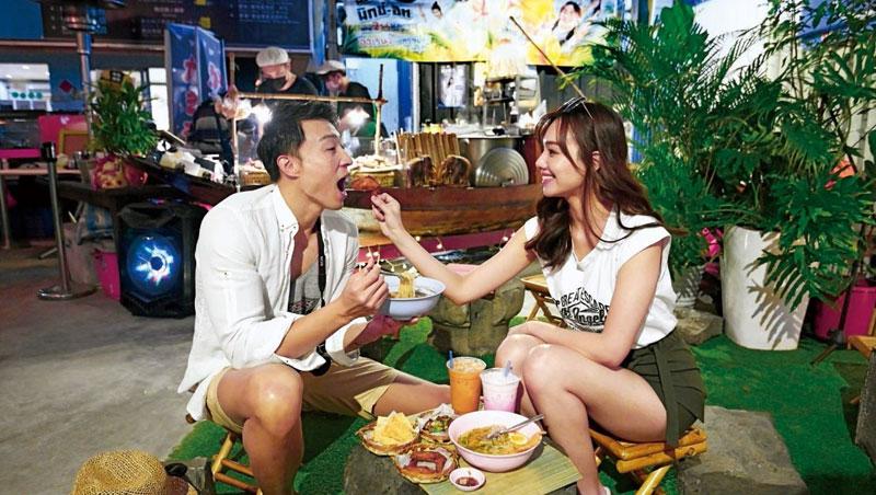 哈哈羅55泰式船麵把曼谷街頭小吃搬來台灣,創造泰國氛圍。