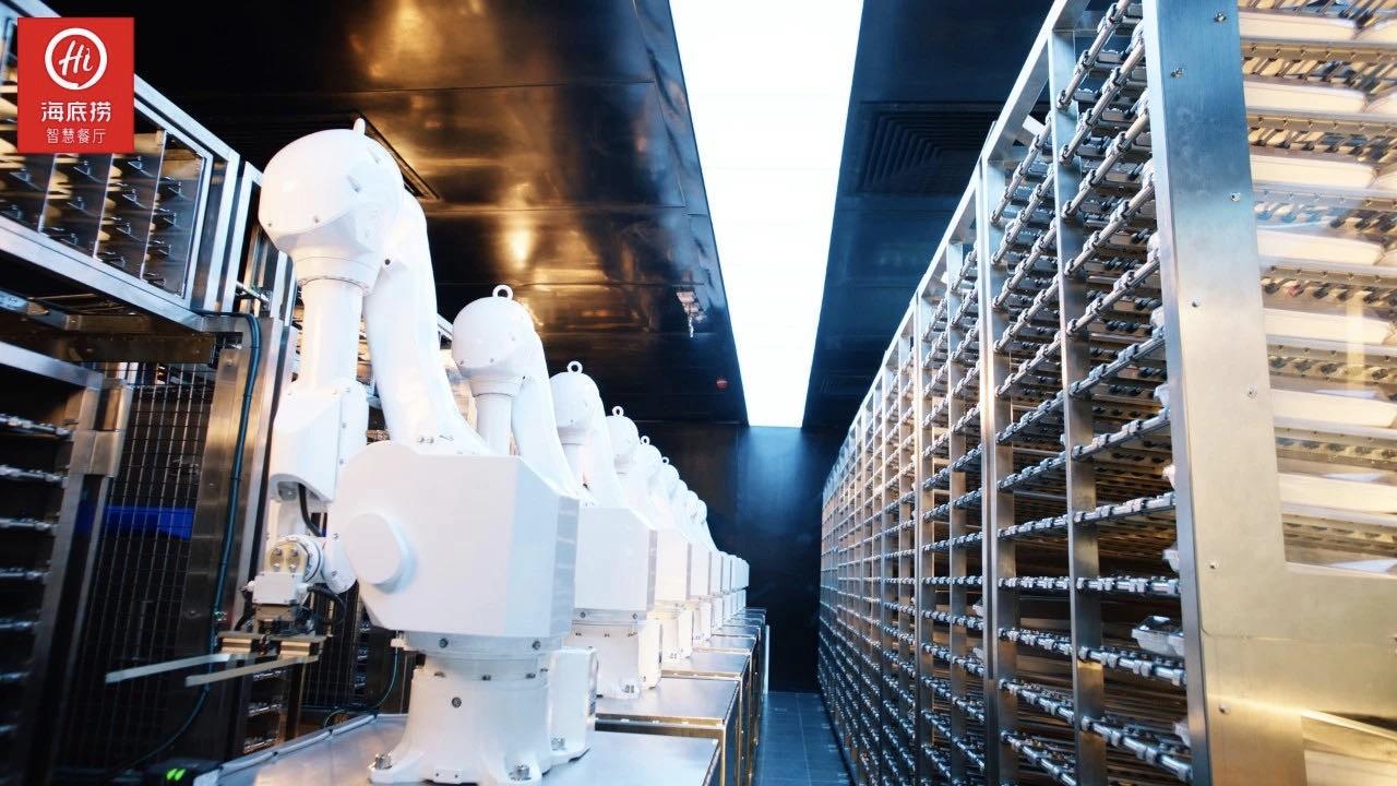 海底撈智能配菜機械臂