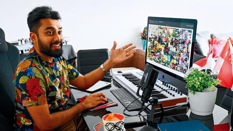 加密幣玩家Vignesh Sundaresan(圖)以19億標得NFT畫作。他看好這是數位藝術的新起點