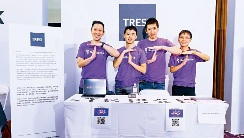 Tresl共同創辦人:趙中廷(左1)、Tony Yin
