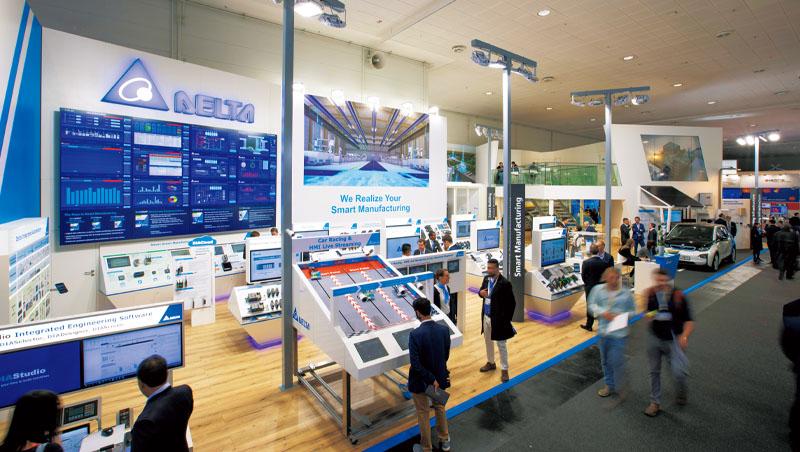 疫情前最大、2019年漢諾威工業展上,台達電集結所有事業群產品展現出的實力,已不亞於西門子、ABB等大廠