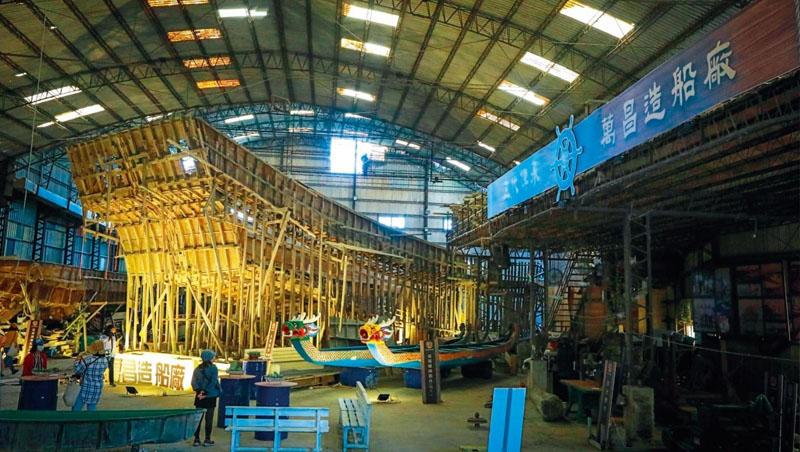 全盛時期的萬昌造船廠裡,最多可同時打造3艘船模