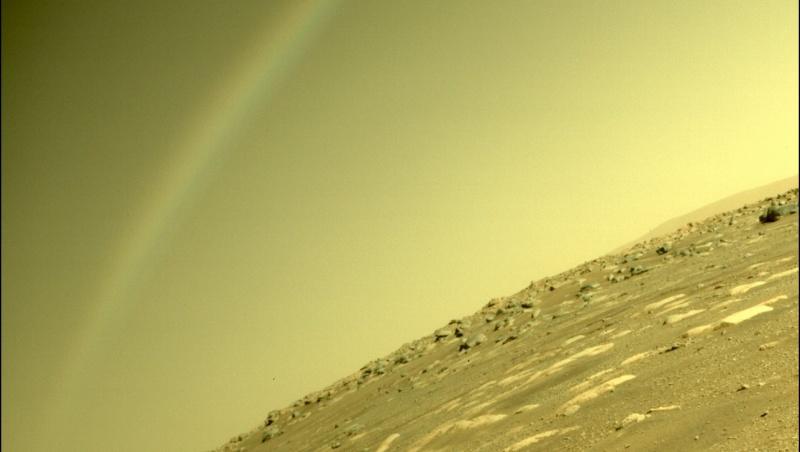 毅力號回傳影像,看起來像彩虹