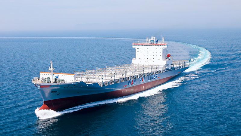 萬海是台灣近洋線市占率最高的貨櫃航商