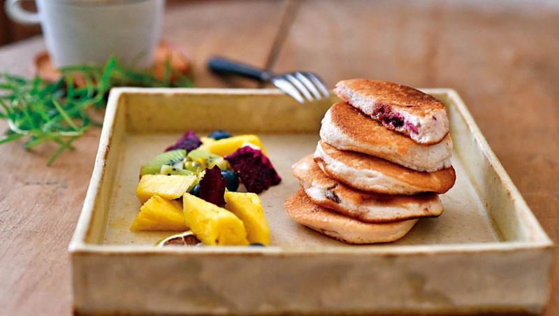 馥郁豐潤的甜點—水果乾米穀粉鬆餅