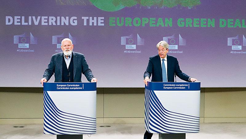 歐盟發布「55套案」,目標是在2030年達到碳排量比1990年水平減少55%