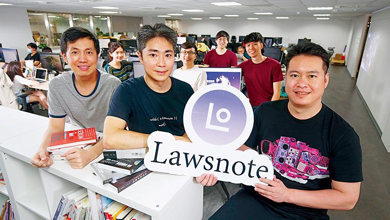 七法創辦人郭榮彥(右起)、謝復雅、謝旺叡在成立之初就決定「全員客服」,有助於讓員工直接收顧客意見,挖出需求