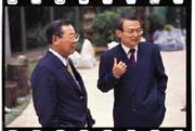 想起許遠東的前例,戴立寧(左)只好答應張慶堂(右)辭職。