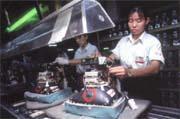 AOC在大陸的生產線忙碌的景況,讓其他台商欽羨。