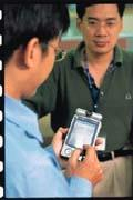 PDA結合臉部辨識系統,可達到行動辨識的即時效果。